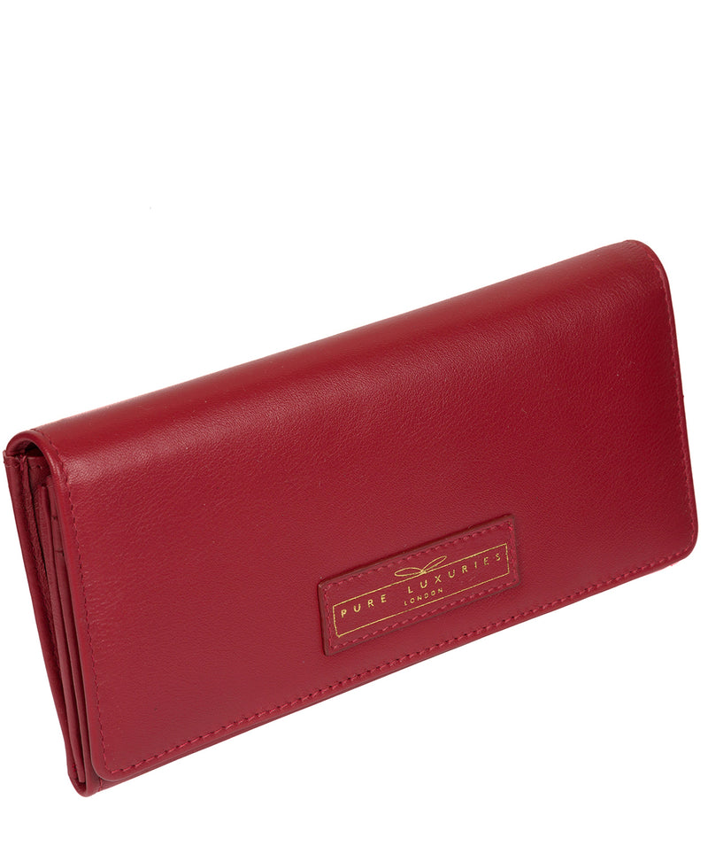 'Honor' Light Red Leather Purse image 3