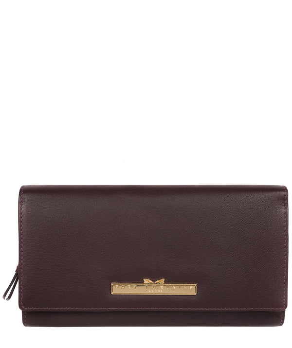 'Kite' Plum Leather Tri-Fold Purse image 1