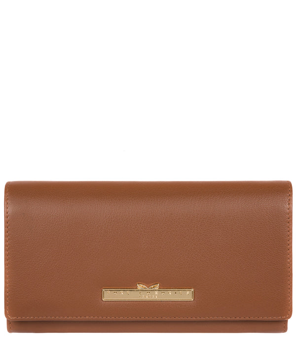 'Kite' Tan Leather Tri-Fold Purse image 1