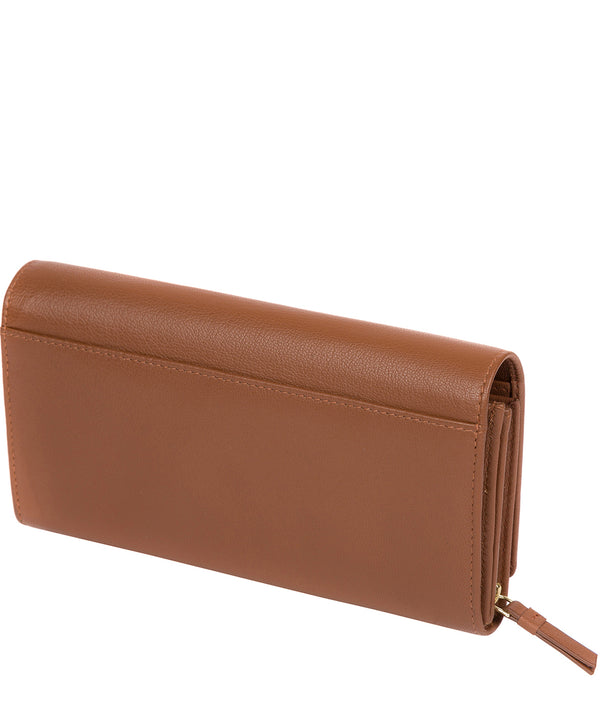 'Kite' Tan Leather Tri-Fold Purse image 3