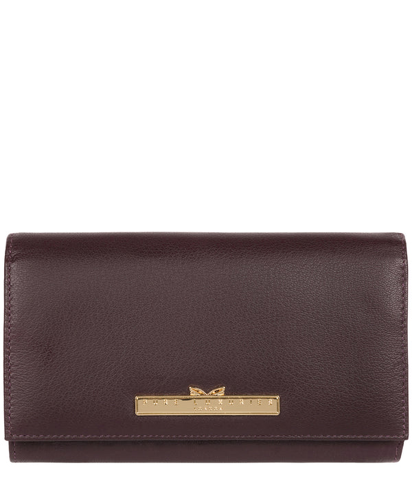 'Finch' Plum Leather Bi-Fold Purse image 1