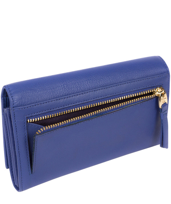 'Finch' Royal Blue Leather Bi-Fold Purse image 3