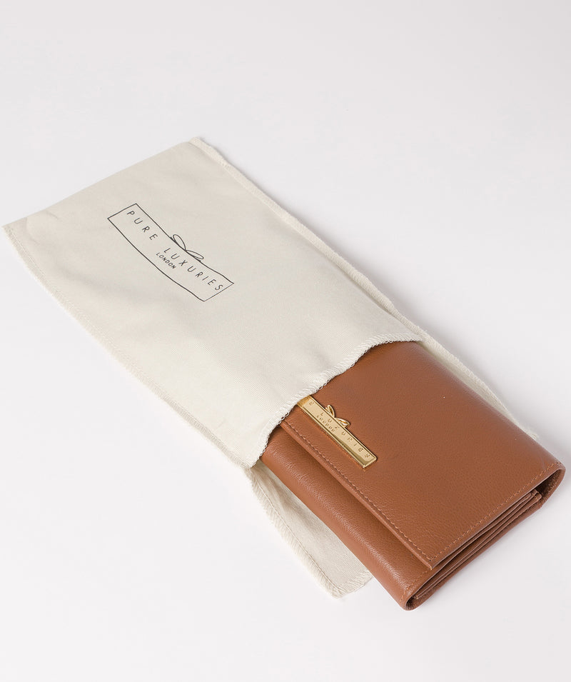 'Finch' Tan Leather Bi-Fold Purse image 5