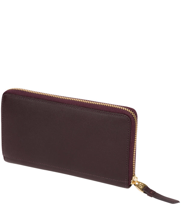 'Robin' Plum Leather Zip Round Purse image 3