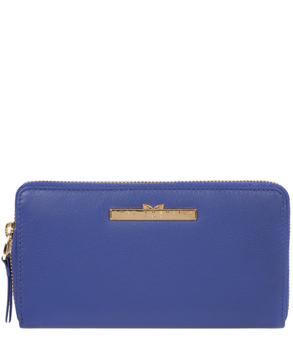 'Robin' Royal Blue Leather Zip Round Purse image 1
