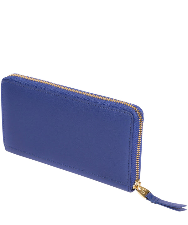 'Robin' Royal Blue Leather Zip Round Purse image 3