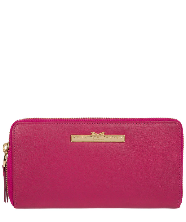 'Robin' Sangria Leather Zip Round Purse image 1
