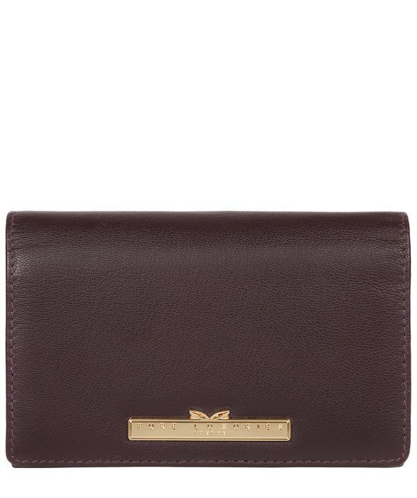 'Swift' Plum Leather Tri-Fold Purse image 1