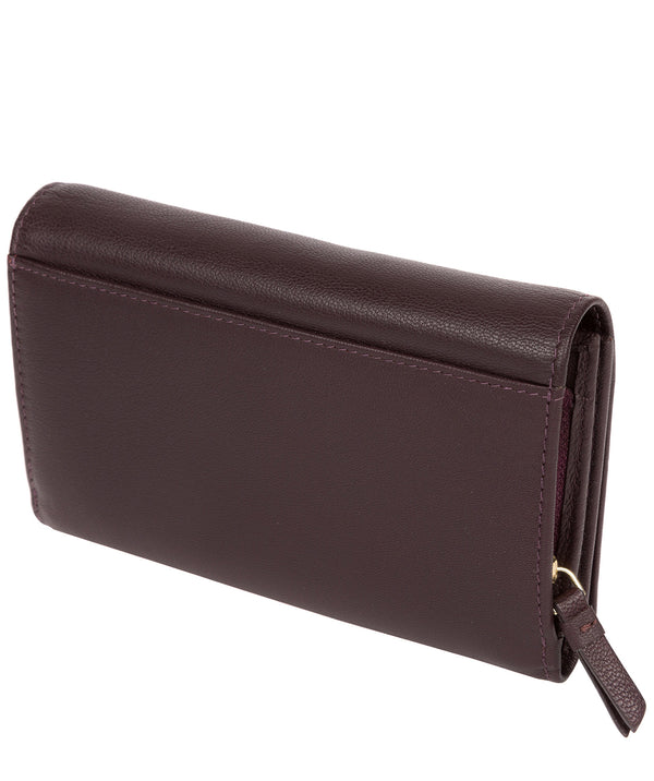 'Swift' Plum Leather Tri-Fold Purse image 3