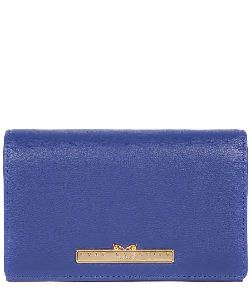 'Swift' Royal Blue Leather Tri-Fold Purse image 1