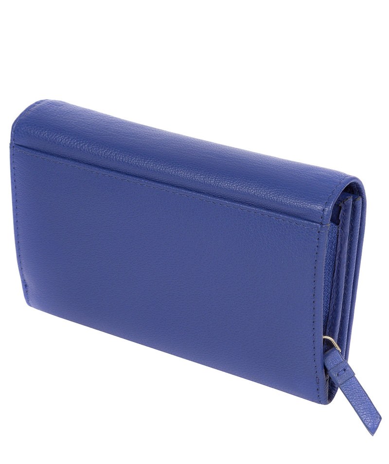 'Swift' Royal Blue Leather Tri-Fold Purse image 3