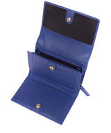 'Swift' Royal Blue Leather Tri-Fold Purse image 4