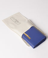 'Swift' Royal Blue Leather Tri-Fold Purse image 5