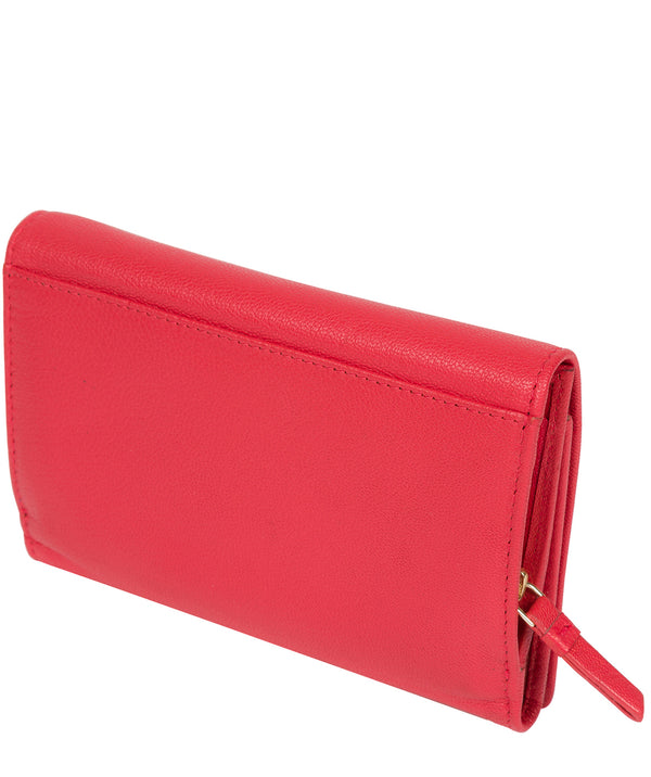 'Swift' Tomato Leather Tri-Fold Purse image 3