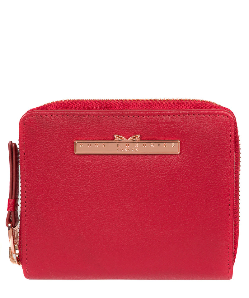 'Piper' Barbados Cherry Leather Purse image 1
