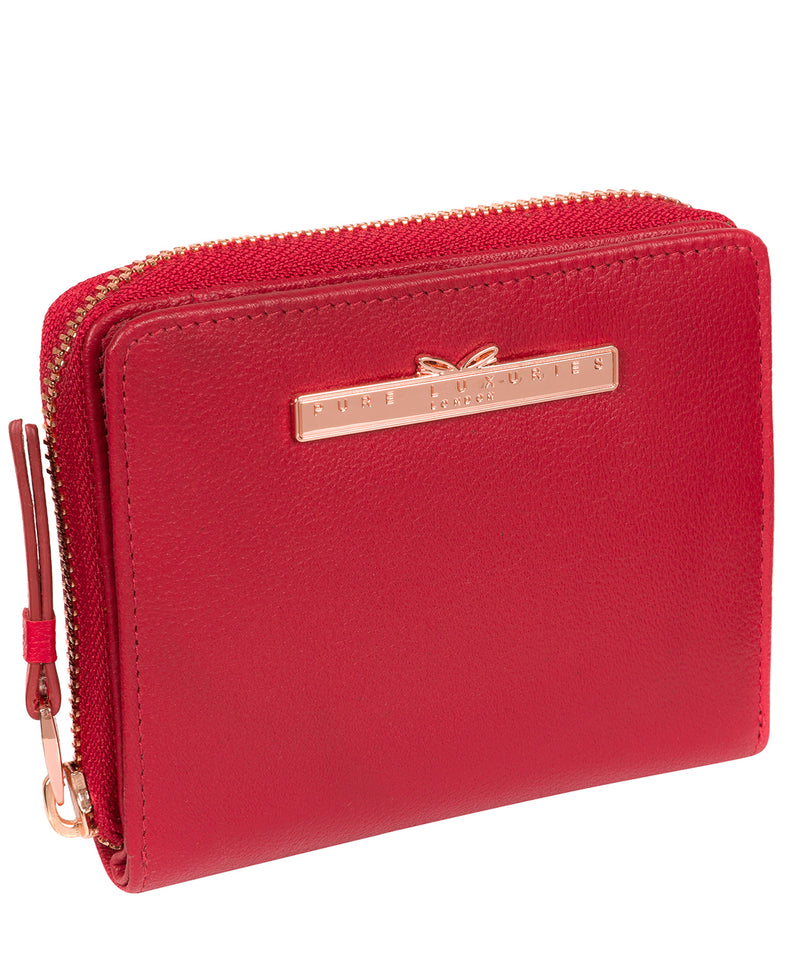 'Piper' Barbados Cherry Leather Purse image 5