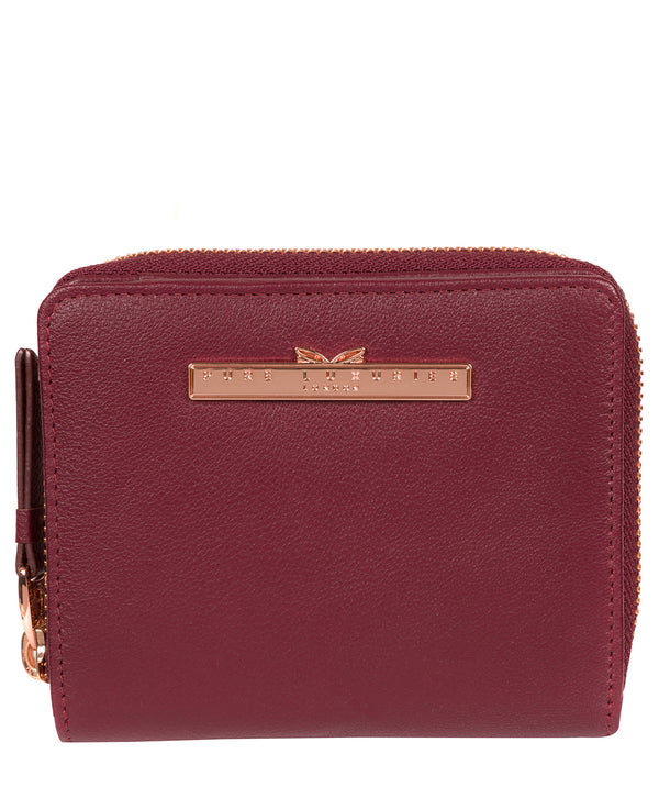 'Piper' Pomegranate Leather Purse image 1