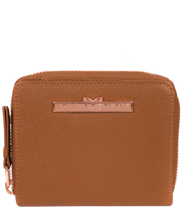 'Piper' Tan Leather Purse image 1