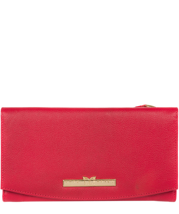'Lark' Barbados Cherry Leather Tri-Fold Purse image 1