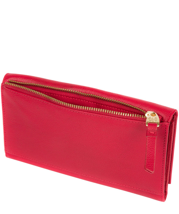 'Lark' Barbados Cherry Leather Tri-Fold Purse image 3