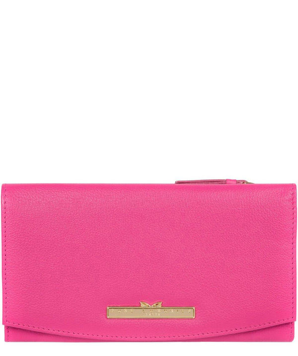 'Lark' Fuchsia Leather Tri-Fold Purse