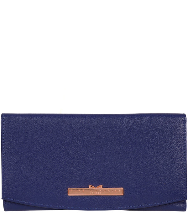 'Lark' Navy Blue Leather Purse image 1