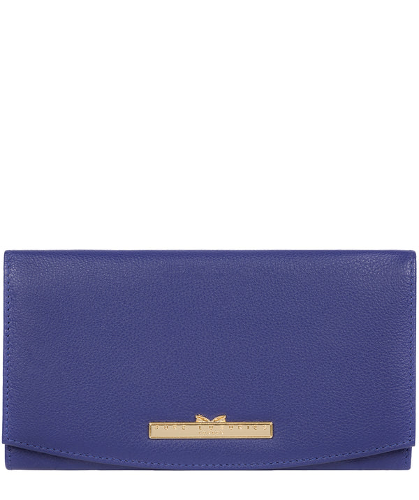 'Lark' Navy Leather Tri-Fold Purse image 1