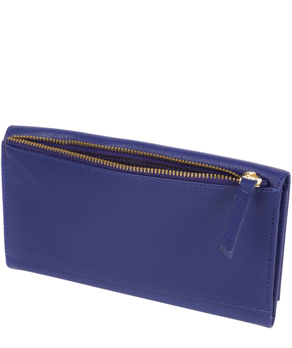 'Lark' Navy Leather Tri-Fold Purse image 3