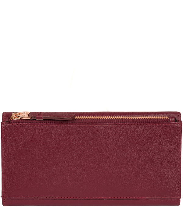 'Lark' Pomegranate Leather Purse image 3