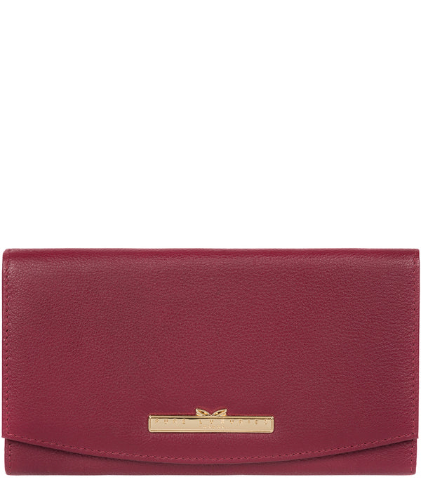 'Lark' Pomegranate Leather Tri-Fold Purse image 1