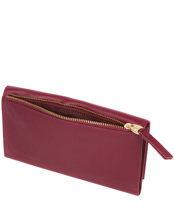 'Lark' Pomegranate Leather Tri-Fold Purse image 3