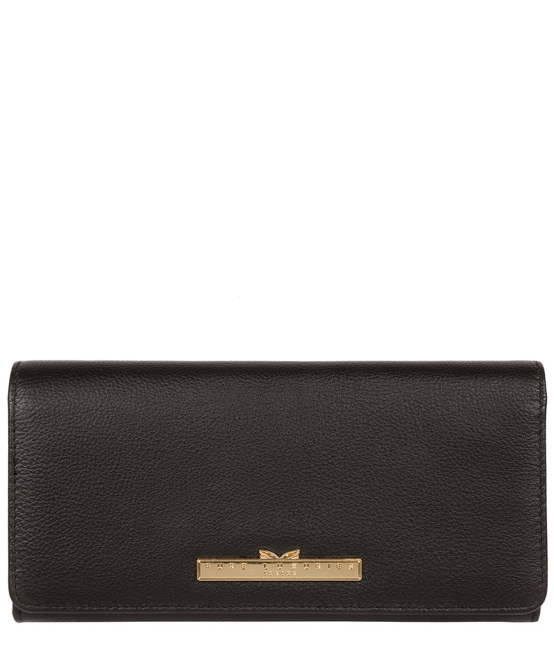 'Pipit' Black Leather Bi-Fold Purse image 1