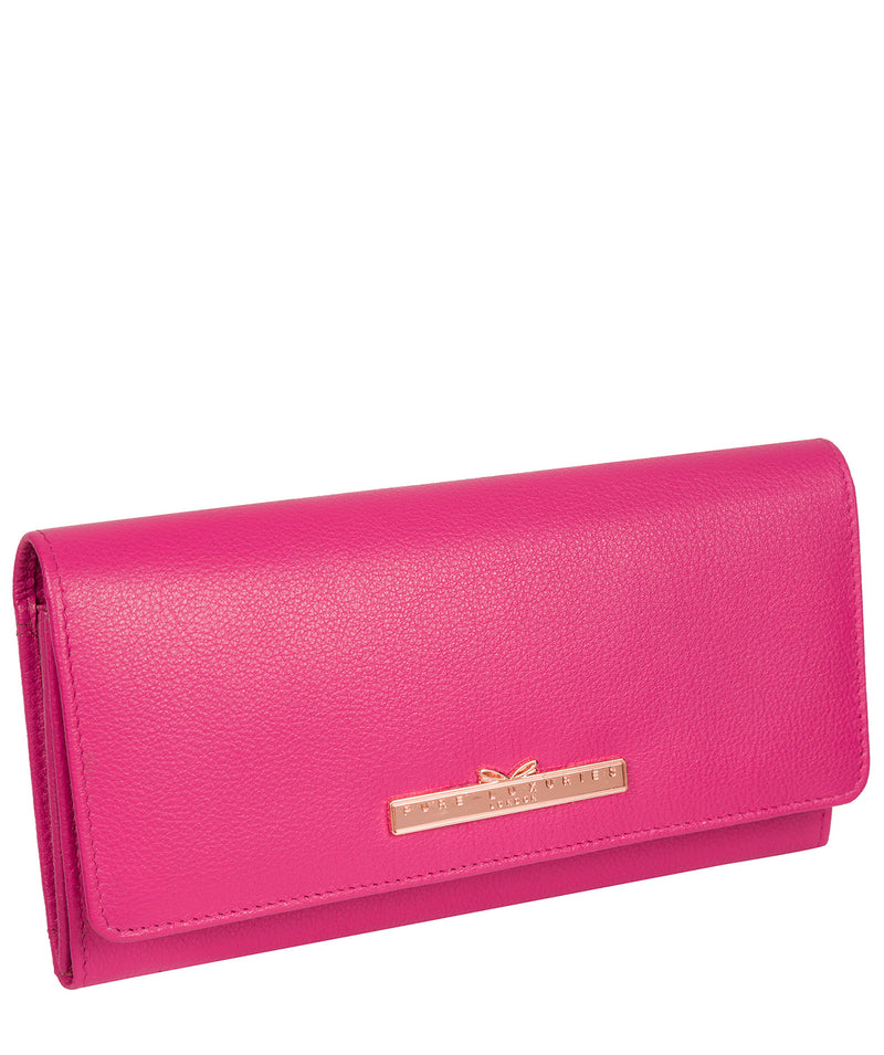 'Pipit' Fuchsia Leather Purse image 5