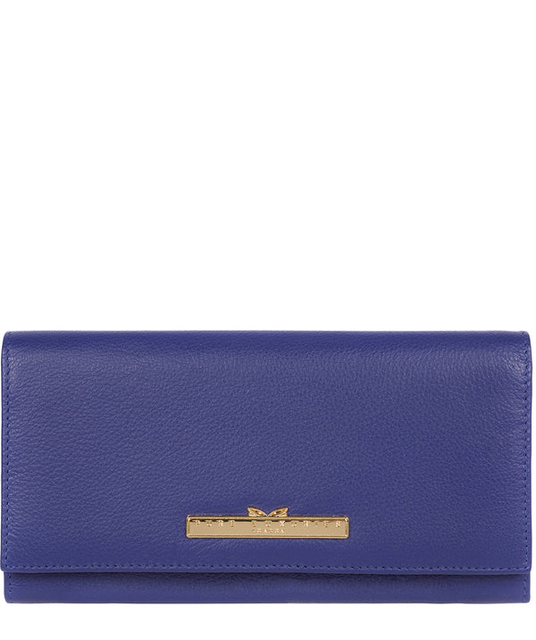 'Wren' Navy Leather Tri-Fold Purse image 1