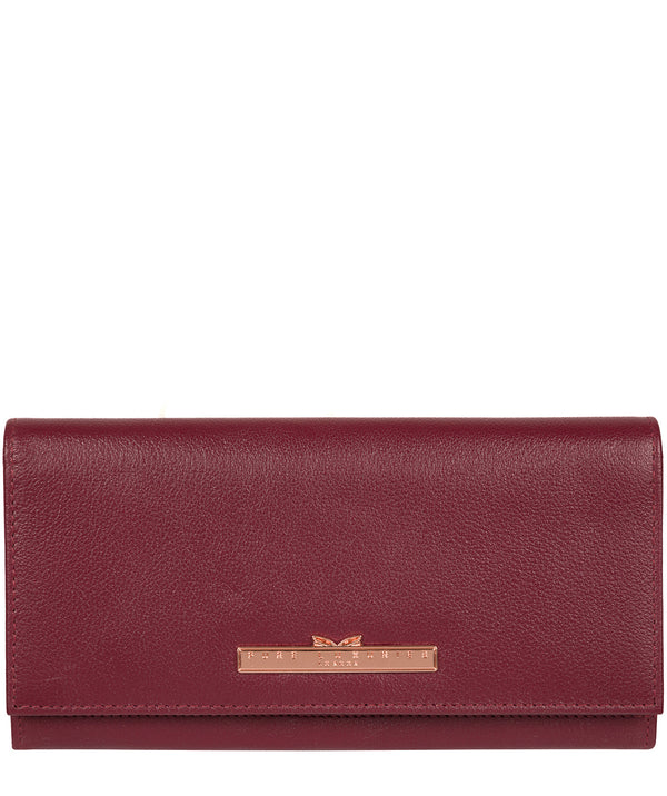 'Wren' Pomegranate Leather Purse image 1