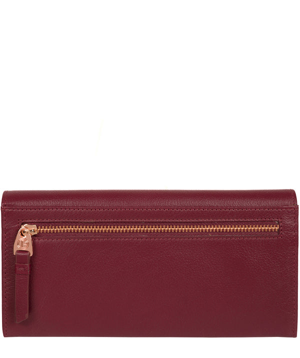 'Wren' Pomegranate Leather Purse image 3