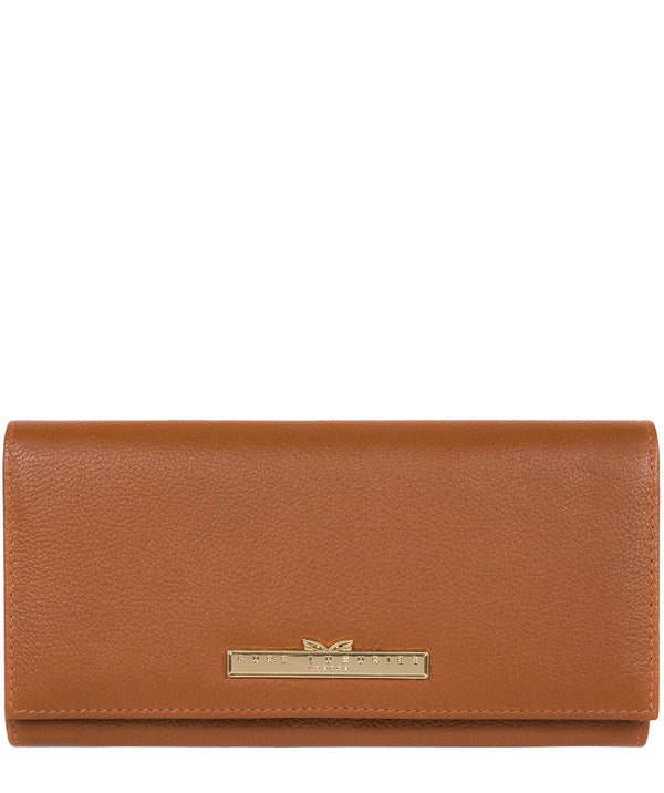 'Wren' Tan Leather Tri-Fold Purse image 1