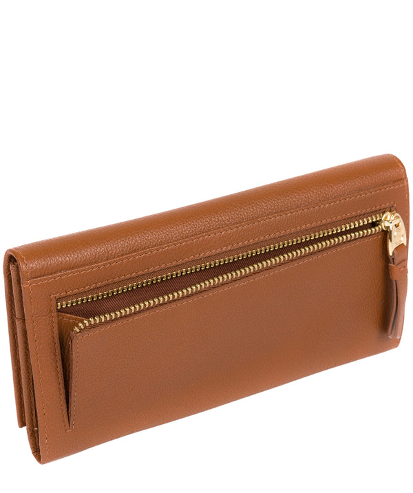 'Wren' Tan Leather Tri-Fold Purse image 3