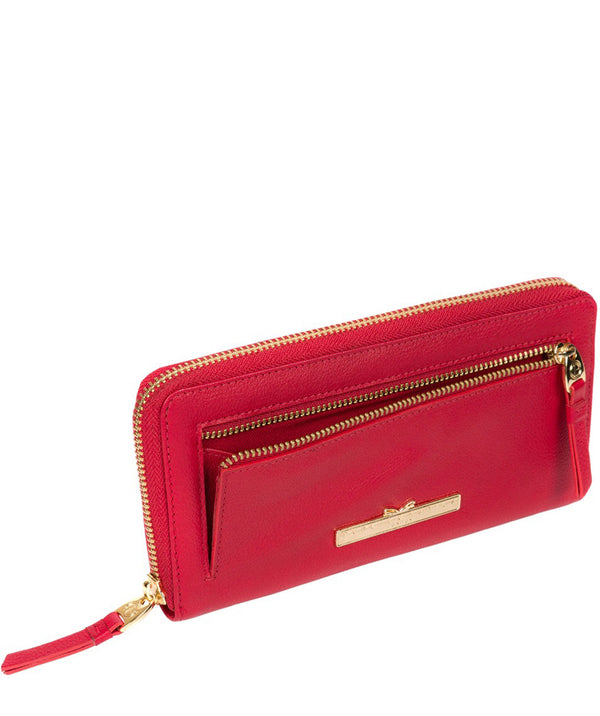 'Starling' Barbados Cherry Leather Bi-Fold Purse image 3