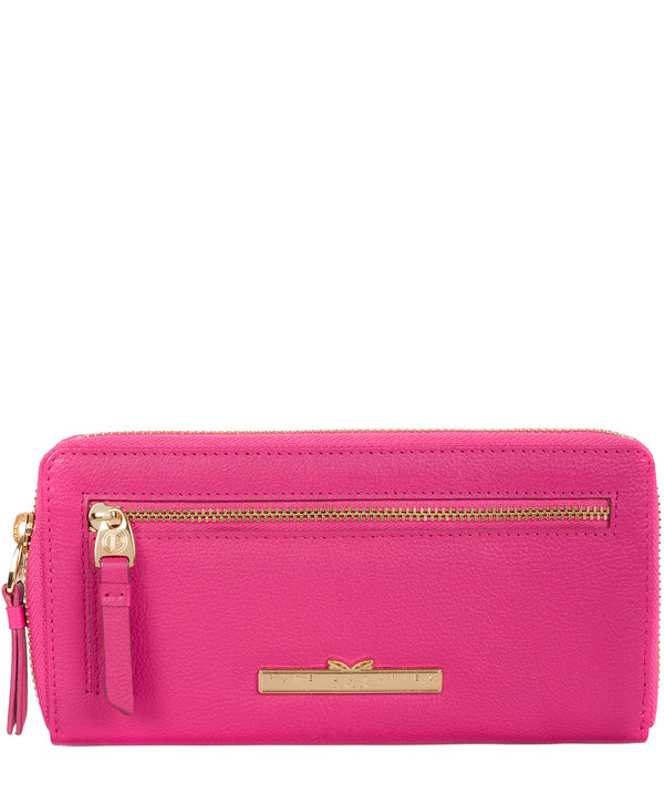 'Starling' Fuchsia Leather Bi-Fold Purse Pure Luxuries London