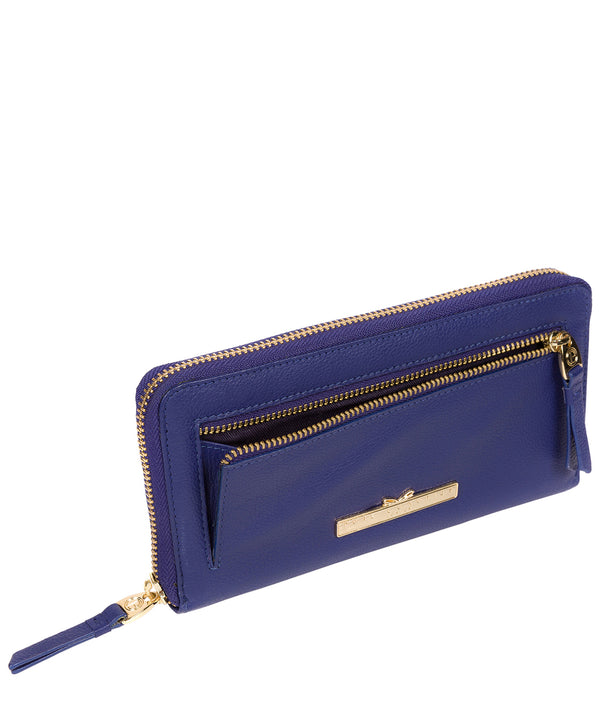 'Starling' Navy Leather Bi-Fold Purse image 3