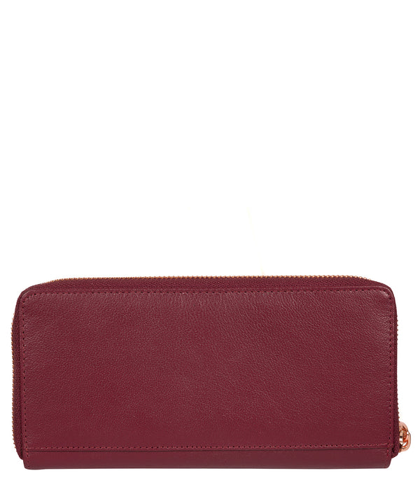 'Starling' Pomegranate Leather Purse image 3