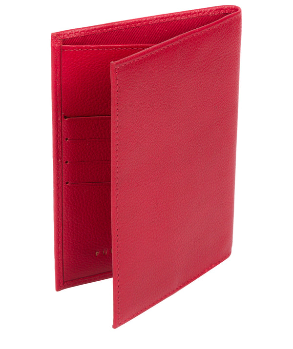 'Jet' Barbados Cherry Leather Passport Holder Pure Luxuries London