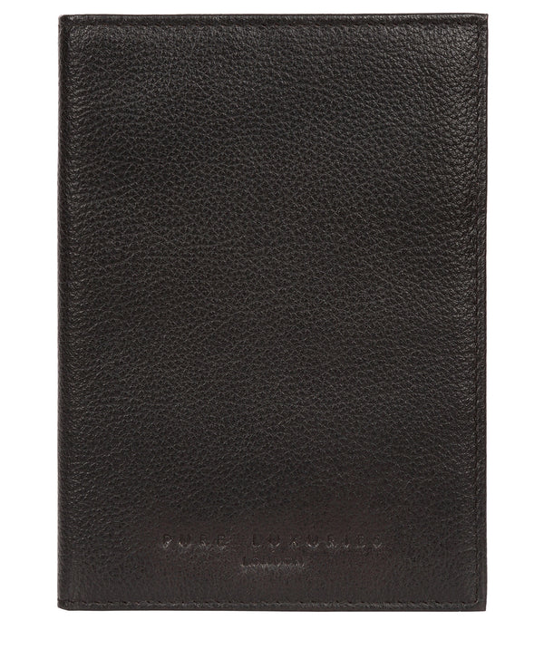 'Jet' Black Leather Passport Holder image 1