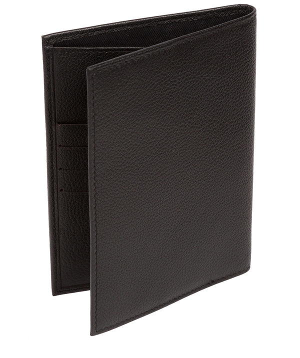'Jet' Black Leather Passport Holder image 3
