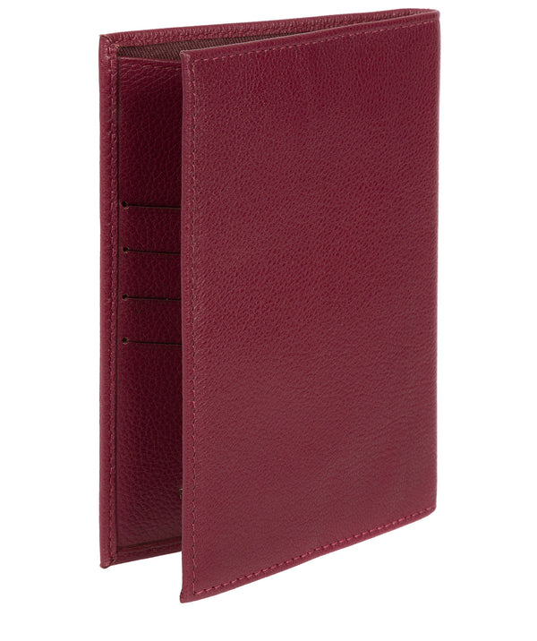 'Jet' Pomegranate Leather Passport Holder image 3