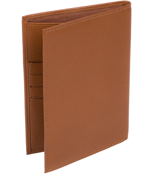 'Jet' Tan Leather Passport Holder image 3