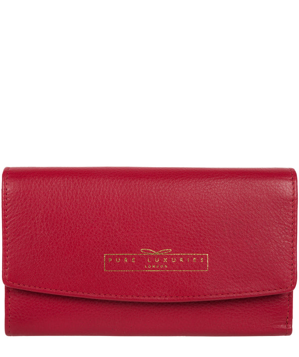 'Tulip' Garnet Leather Tri-Fold Purse image 1