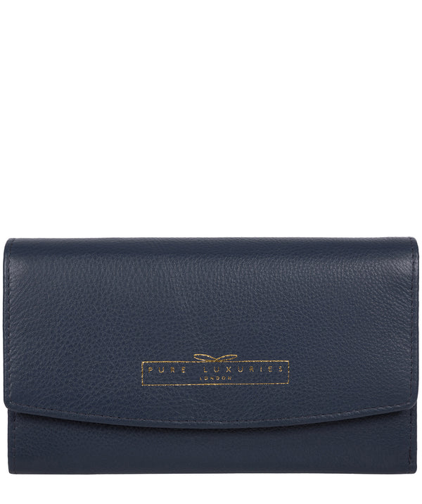'Tulip' Midnight Navy Leather Tri-Fold Purse image 1