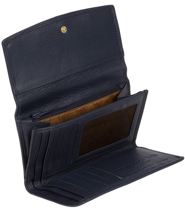 'Tulip' Midnight Navy Leather Tri-Fold Purse image 3